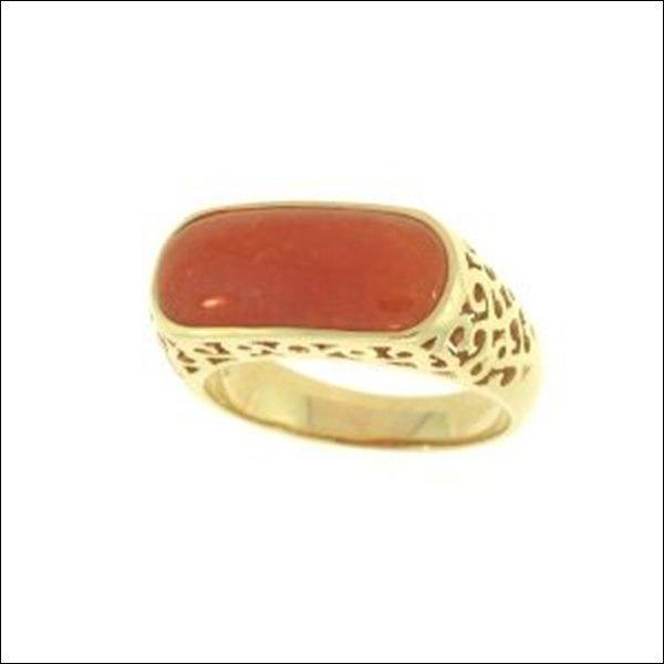 NATURAL RED JADE RING-GRADE A JADE