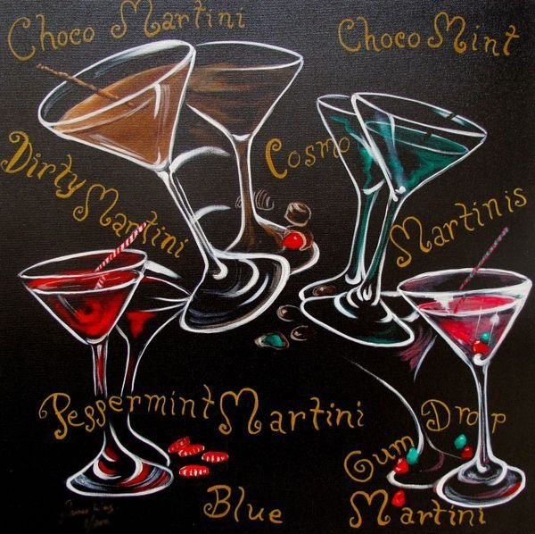 JAMES WING COSMOPOLITAN MARTINIS HAND SIGNED LIMITED