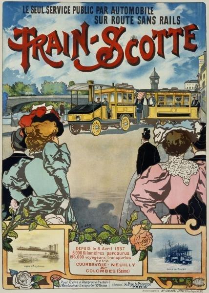 H. GRAY -TRAIN-SCOTTE - GICLÉE ON CANVAS