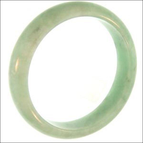 NATURAL GREEN JADE BANGLE-GRADE A JADE