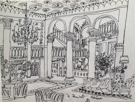 """THEO TOBIASSE """"LE DANIELI"""" FROM VENISE SUITE 1991 PLATE"""