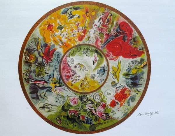 MARC CHAGALL PARIS OPERA CEILING LIMITED ED. LITHOGRAPH