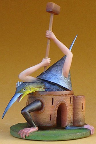 BIRD MONSTER WITH CASTLE BODY BY HIERONYMUS BOSCH