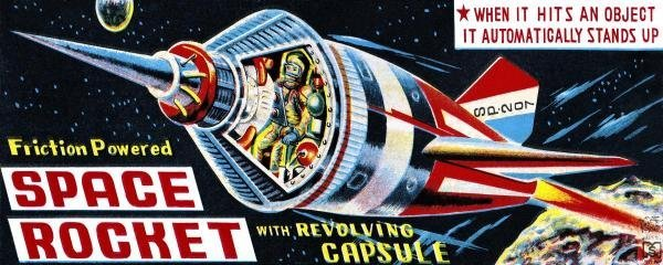 RETROROCKET -SPACE ROCKET WITH REVOLVING CAPSULE -