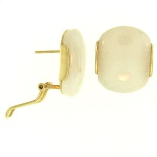 NATURAL WHITE JADE EARRINGS-GRADE A JADE