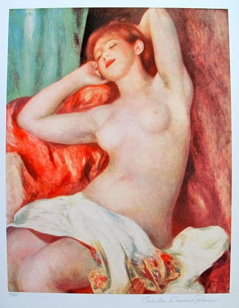 PIERRE AUGUSTE RENOIR NUDE STUDY LIMITED ED. GICLEE
