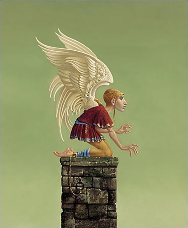 HAND SIGNED - JAMES C. CHRISTENSEN - ICARUS BOUND