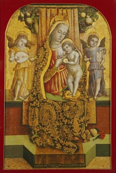 VITTORE CRIVELLI -THE MADONNA AND CHILD - GICLÉE ON