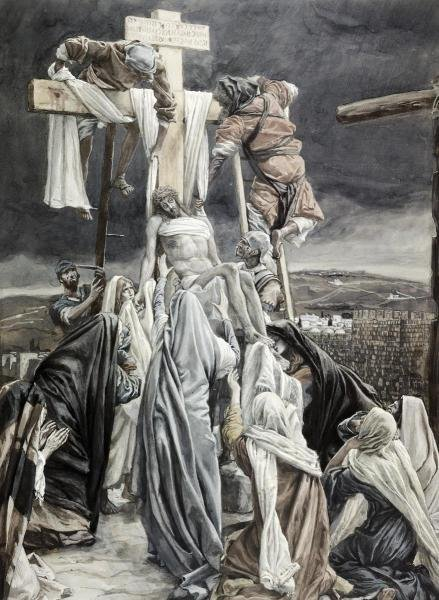 JAMES TISSOT -DESCENT FROM THE CROSS - GICLÉE ON CANVAS