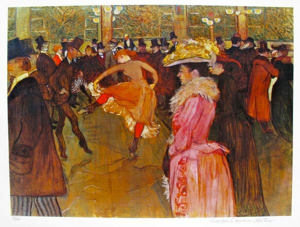 TOULOUSE LAUTREC DANCE AT THE MOULIN ROUGE ESTATE