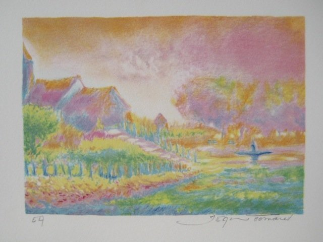 JEAN FERNAND SOLEIL LEVANT VI HAND SIGNED LITHOGRAPH