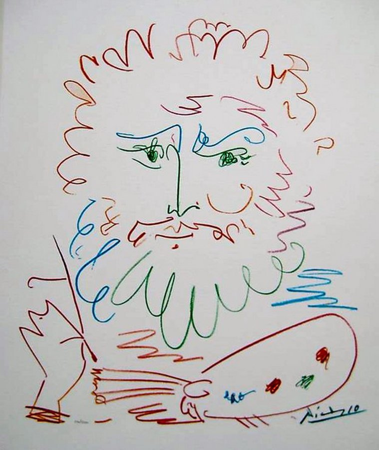 PABLO PICASSO THE ARTIST LIMITED ED. GICLEE