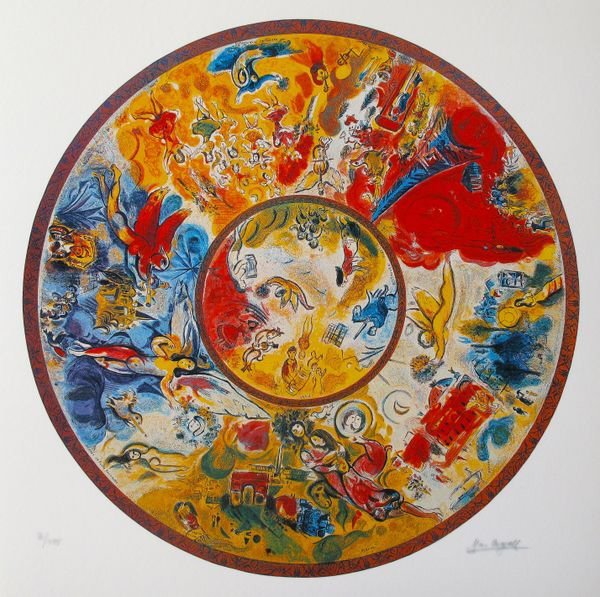 MARC CHAGALL PARIS OPERA CEILING LIMITED ED. SMALL