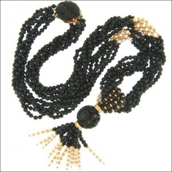 NATURAL BLACK JADE NECKLACE