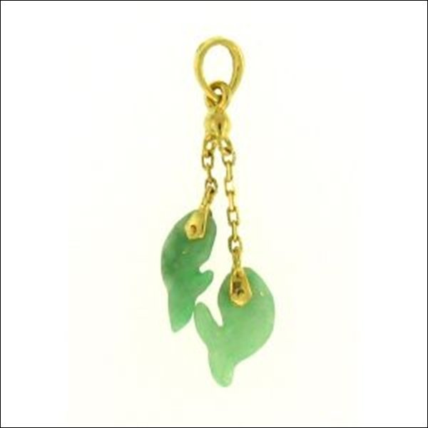 NATURAL GREEN JADE PENDANT