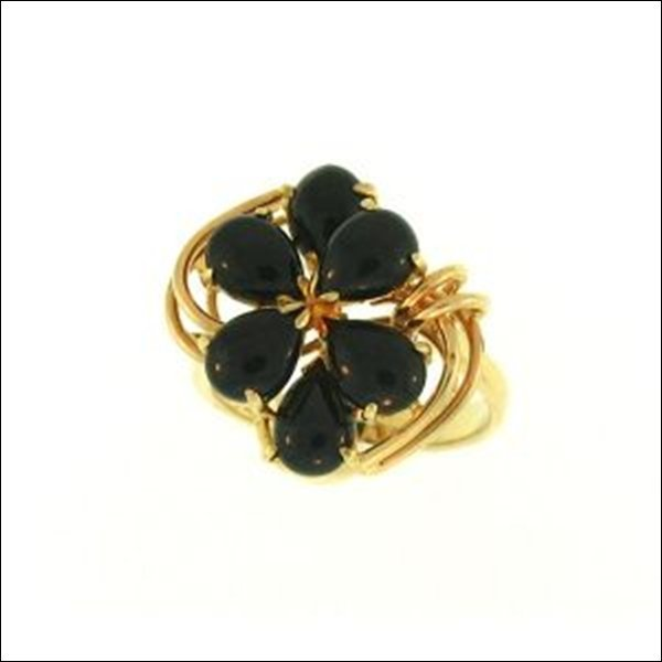 NATURAL BLACK JADE RING-GRADE A JADE