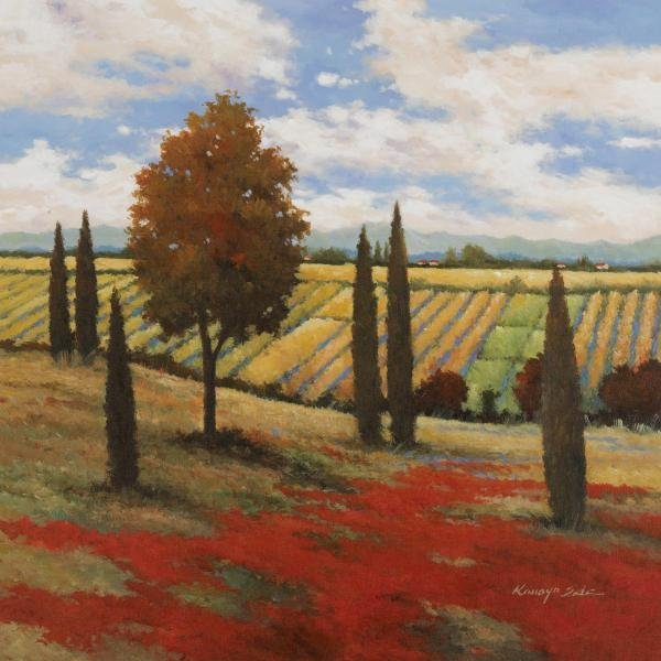 KANAYO EDE -CHIANTI COUNTRY I - GICLÉE ON CANVAS