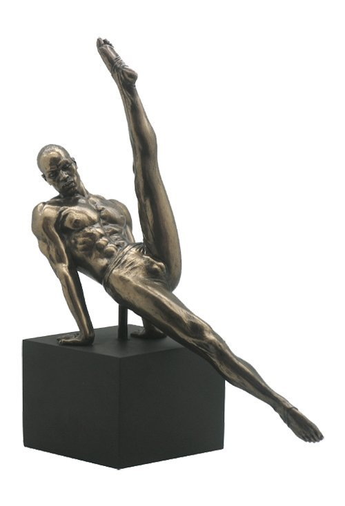MALE GYMNAST ON PLINTH - BRONZE
