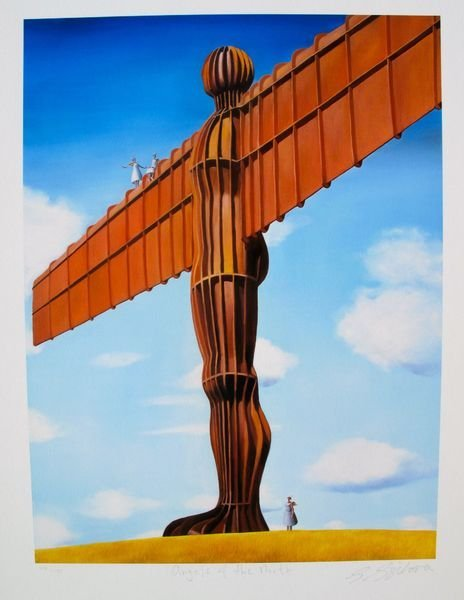 SARAH JANE SZIKORA ANGEL OF THE NORTH LIMITED ED. HAND