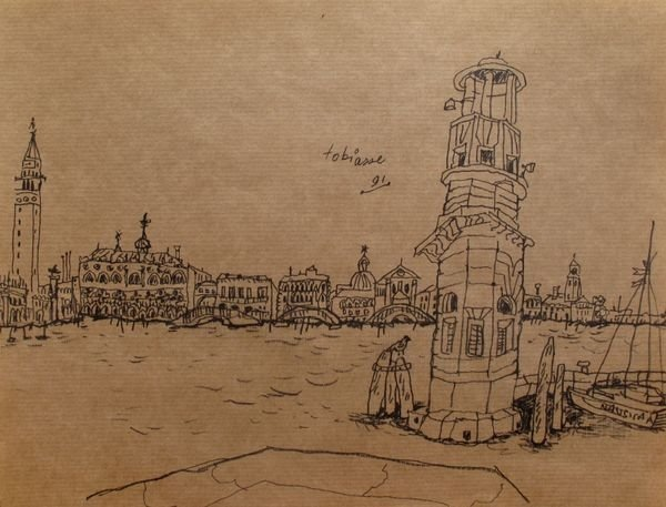 "THEO TOBIASSE ""LIGHTHOUSE"" FROM VENISE SUITE 1991 PLATE"