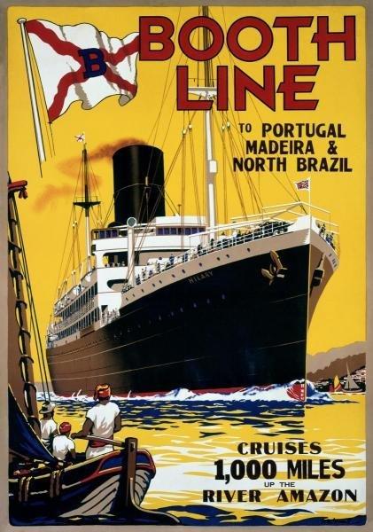 W. MCDONALD -BOOTH LINE - GICLÉE ON CANVAS