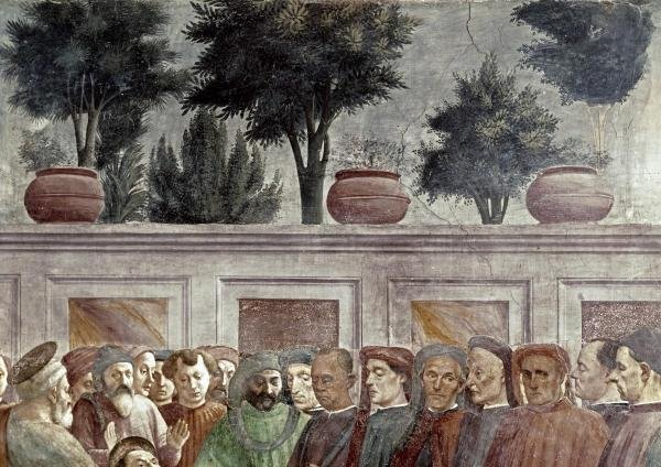 MASACCIO -ST. PETER RESURRECTS THE CHILD OF THEOPHILUS