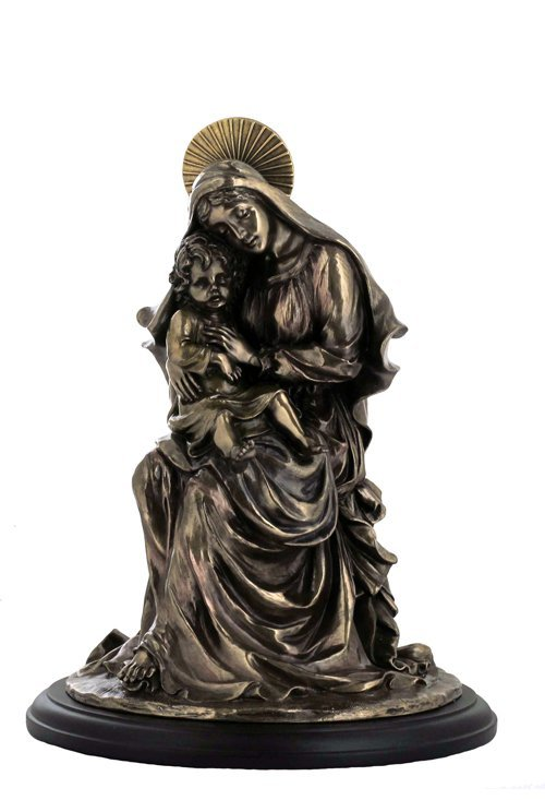 MOTHER MARY AND BABY JESUS - BRONZE