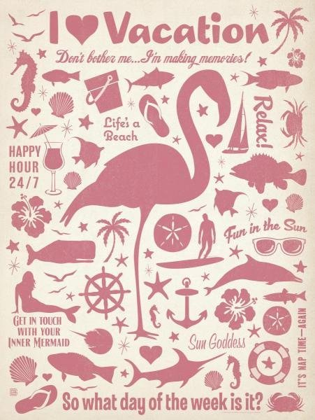 ANDERSON DESIGN GROUP -FLAMINGO PATTERN - GICLÉE ON