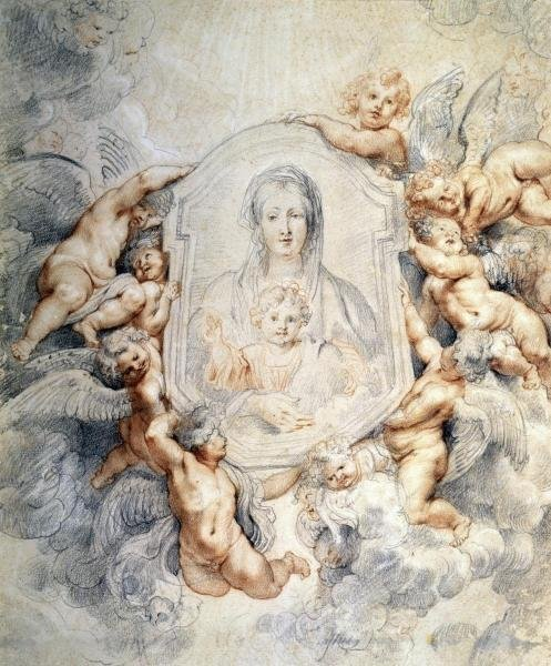 PETER PAUL RUBENS -IMAGE OF THE VIRGIN PORTRAYED WITH