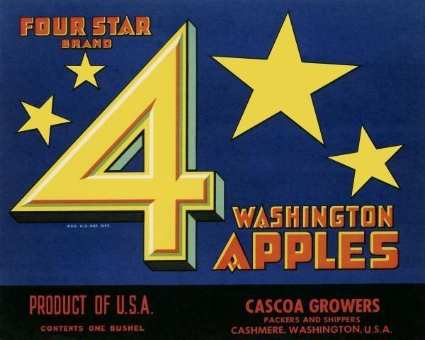 UNKNOWN -FOUR STAR BRAND WASHINGTON APPLES - GICLÉE ON
