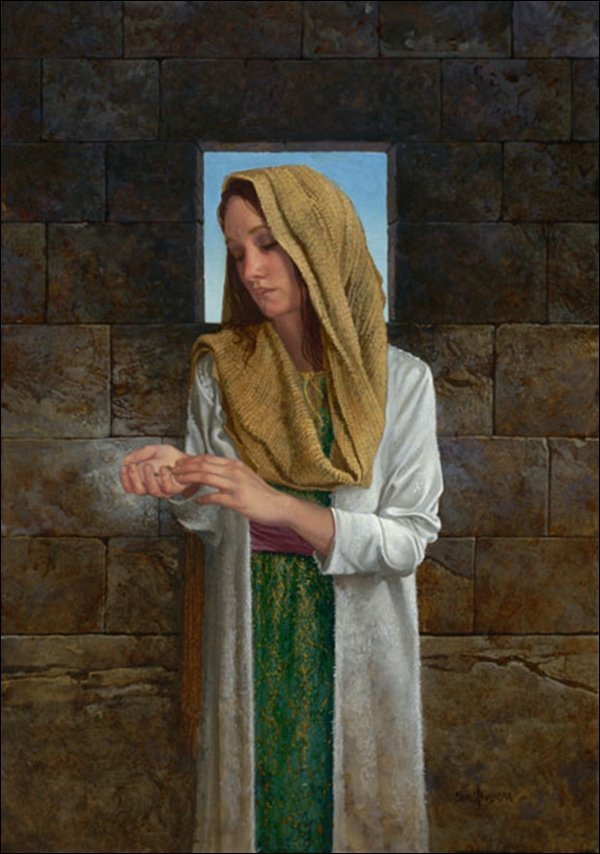 HAND SIGNED - JAMES C. CHRISTENSEN - ALL THAT SHE HAD