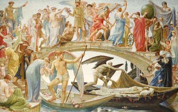 WALTER CRANE -THE BRIDGE OF LIFE - GICLÉE ON CANVAS