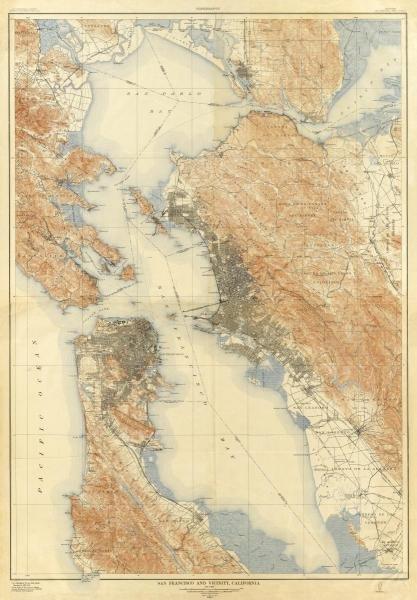 U.S. GEOLOGICAL SURVEY -SAN FRANCISCO AND VICINITY,