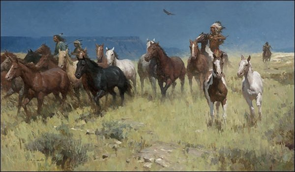 HAND SIGNED - Z.S. LIANG - PLUNDER OF MANY HORSES