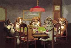 C.M. COOLIDGE - POKER DOGS: A FRIEND IN NEED, 1903 -