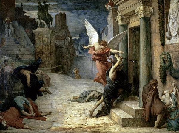 JULES-ELIE DELAUNAY -THE ANGEL OF DEATH; PESTE A ROMA -