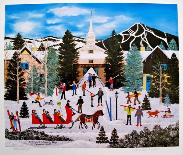 JANE WOOSTER SCOTT EMBRACING WINTER'S TOYS HAND SIGNED