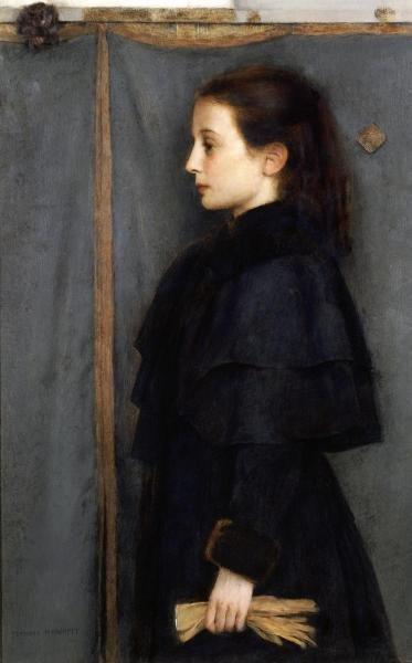 FERNAND KHNOPFF -PORTRAIT OF JEANNE DE BAUER - GICLÉE
