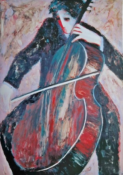 BARBARA WOOD THE CELLIST HAND SIGNED LIMITED ED.