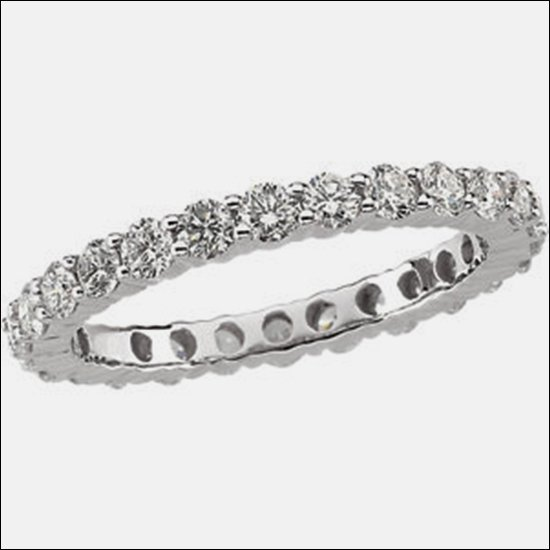 1 1/2 CT TW ROUND DIAMOND ETERNITY BAND