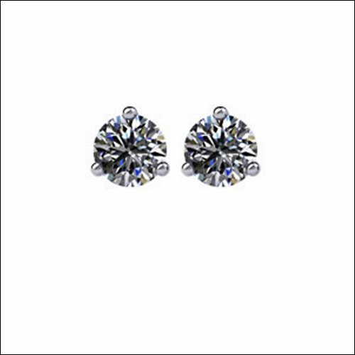 Diamond Friction Post Stud Earrings