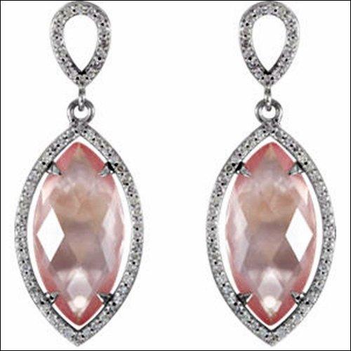 Halo-Styled Marquise Shape Dangle Earrings