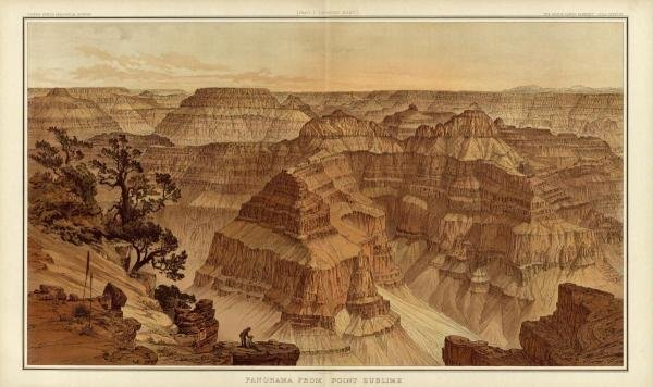WILLIAM HENRY HOLMES - GRAND CANYON - PANORAMA FROM