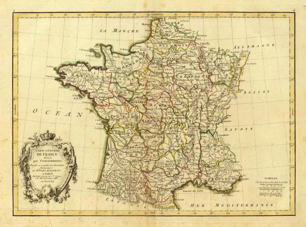 RIGOBERT BONNE - FRANCE, CARTE GENERALE, 1786