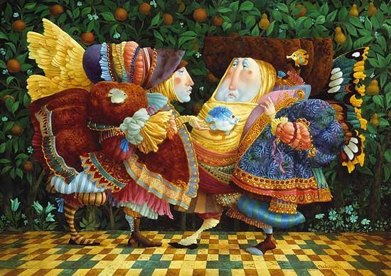 CONVERSATION AROUND FISH - JAMES C. CHRISTENSEN