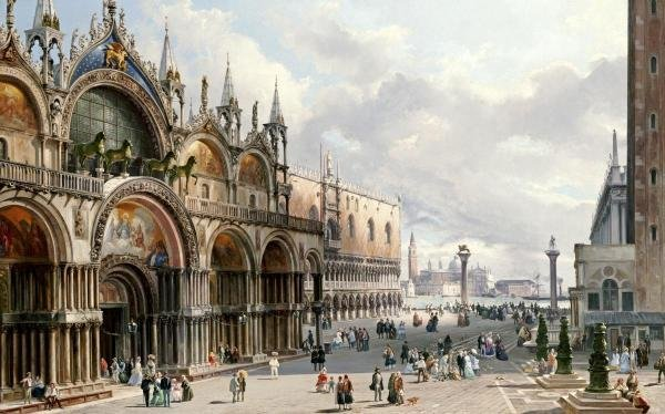 CARLO GRUBACS - ST. MARK'S AND THE DOGE'S PALACE,