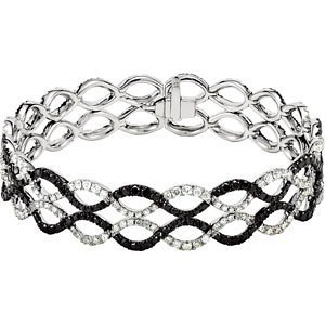 5 9/10 ct tw Black & White Diamond Bracelet
