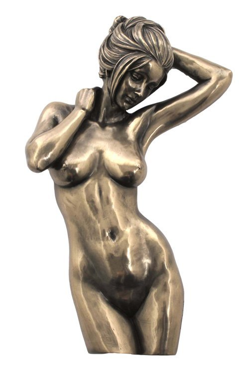 NUDE FEMALE WALL PLAQUE - BRONZE