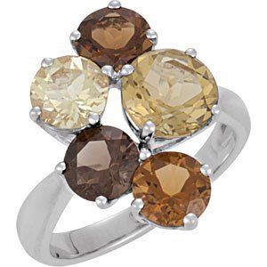 Genuine Multiple Gemstone Ring