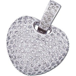 2 ct tw Pavé Diamond Heart Pendant